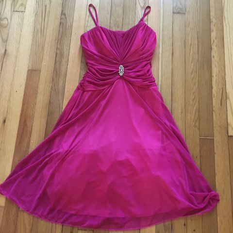 fcf00f6f2ba Women s vintage evening dress   gown in magenta pink size in - Depop