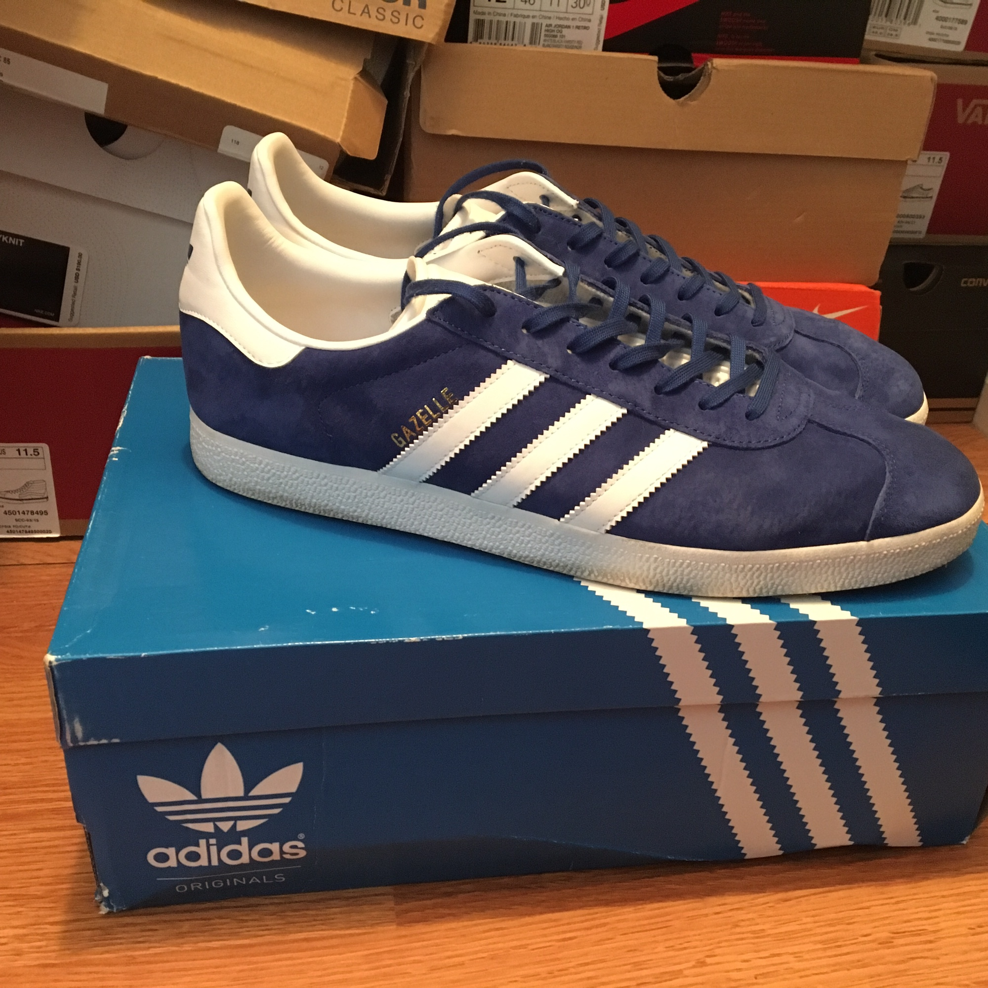 Adidas Gazelles size 12 in this really
