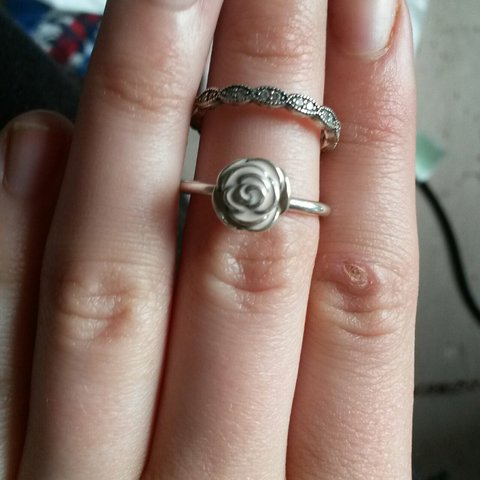 1c23e3783 2 beautiful pandora rings, mint condition, both size 54, for - Depop