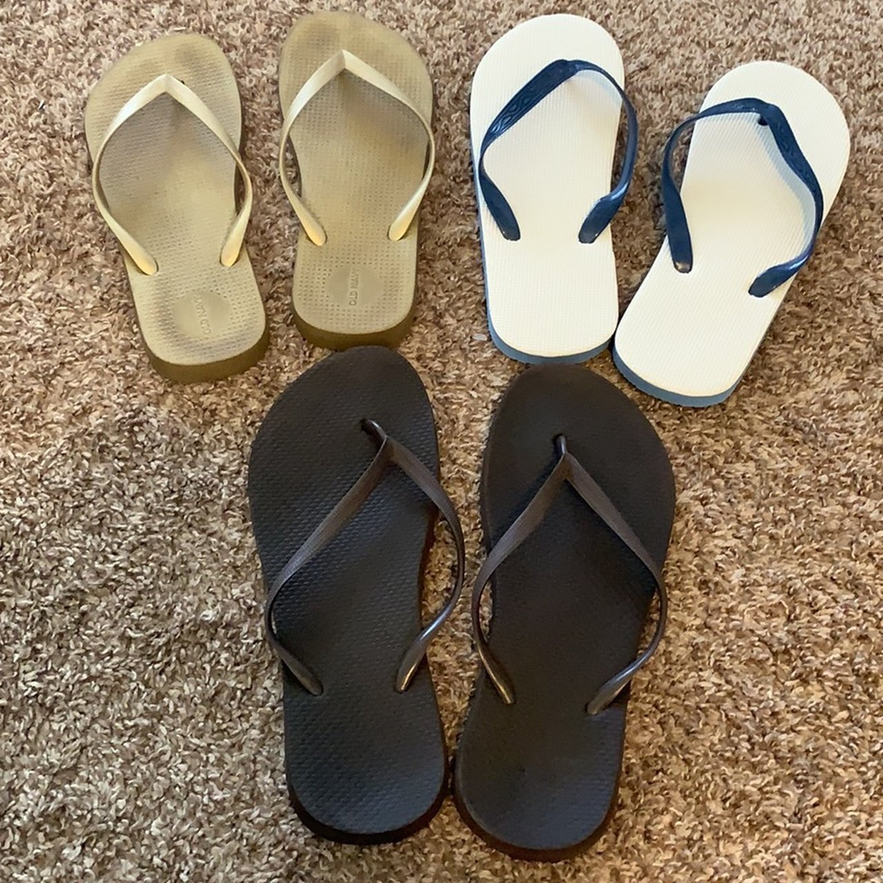 cf080811eaf Flip flop bundle. Gold pair is old navy and a size 9