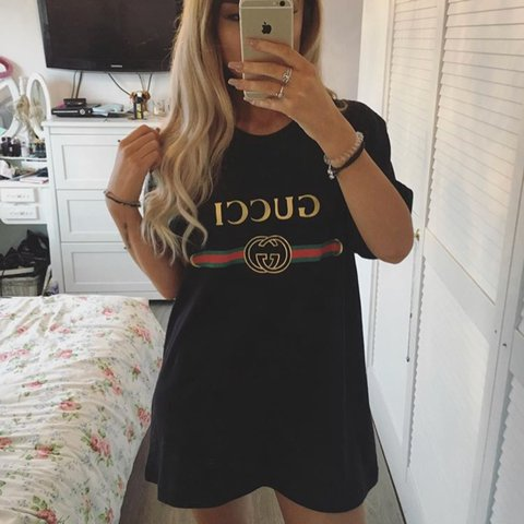 4766d5812 Junk love Gucci Tshirt fits me as a oversized dress and I am - Depop