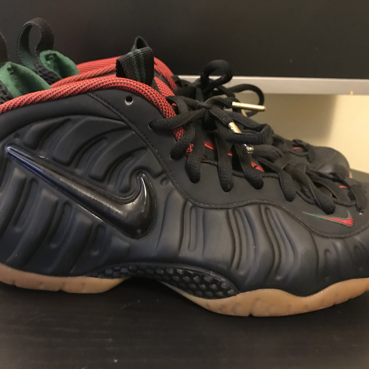 fa934ff2054c5 Gucci nike foamposite worn as seen in pics gucci nike depop jpg 1280x1280 Nike  foamposite gucci