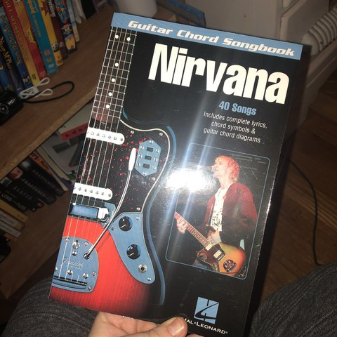 nirvana guitar chords song book in perfect condition. never - Depop