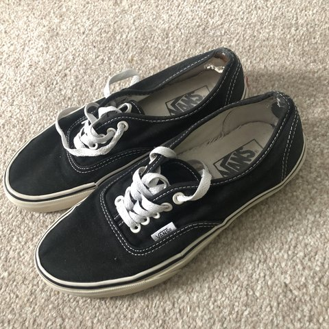 14e6e8a0031d7 Black authentic vans Size 6 Dm before buying ❤ - Depop