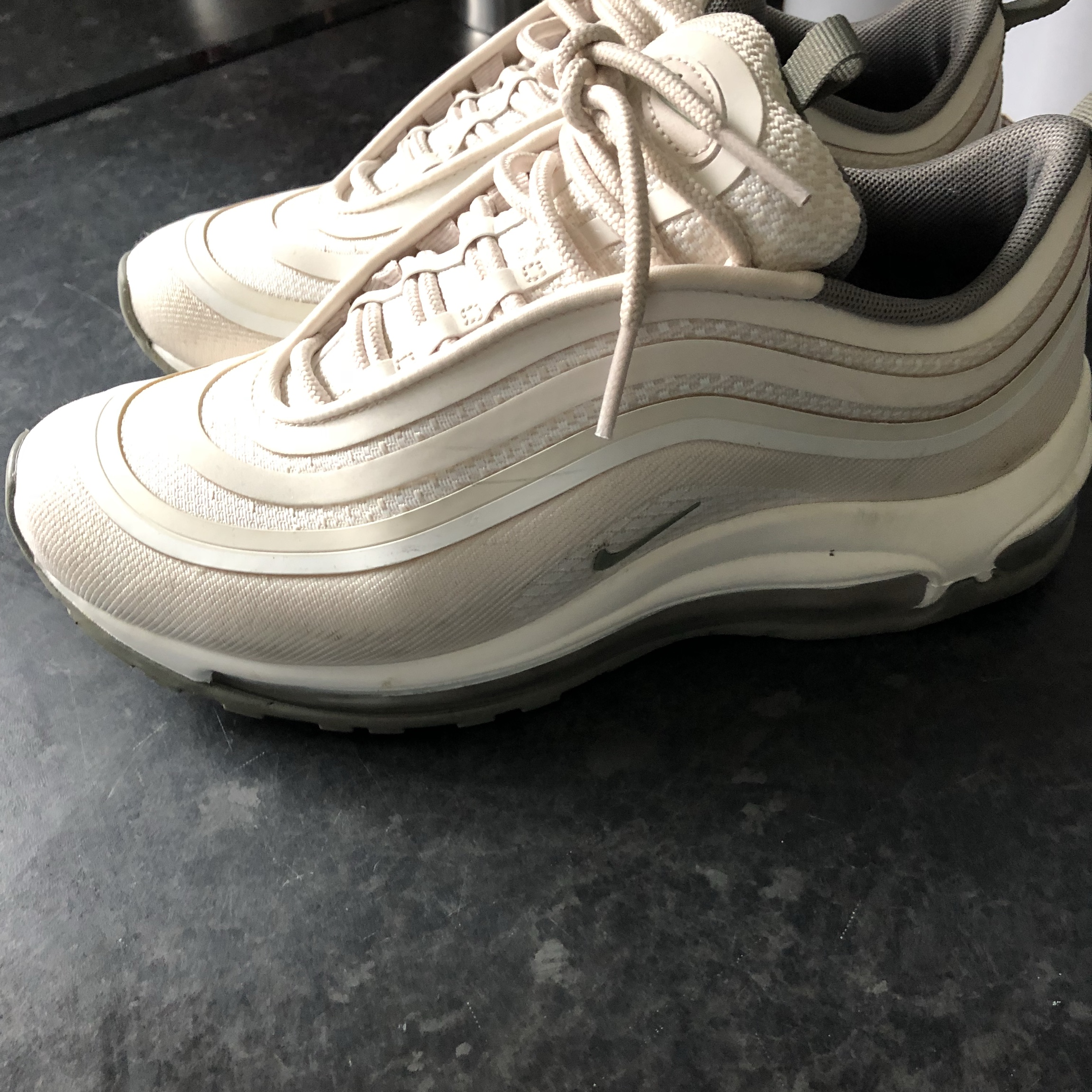 finest selection 54f67 6c661 Nike air max 97 ultra cream worn once to big they... - Depop
