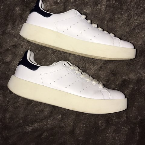 e6ee93b25c2c9 Adidas Stan Smith Platform Trainers with navy blue These a a - Depop
