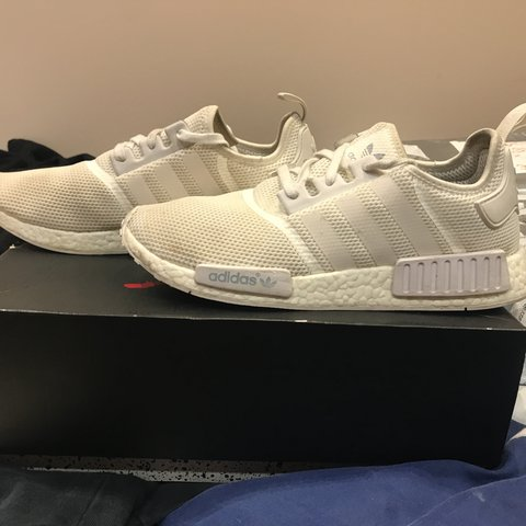 55def6f09 Triple White NMD First release! 7 10. Slight marks on the be - Depop