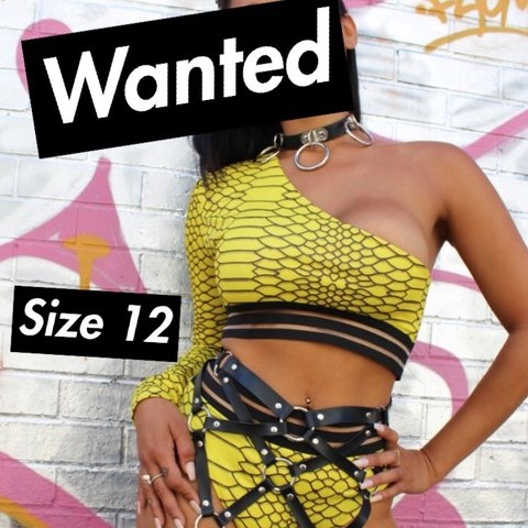 59221317819 WANTED  Yellow Venom co ord set from She Has Evolved in a 12 - Depop