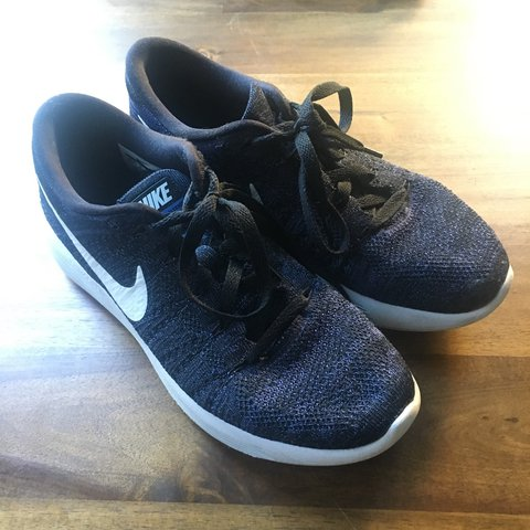 5e96e2ee55fd Blue Black Nike Lunarepic Flyknit Sneakers. Thought these me - Depop