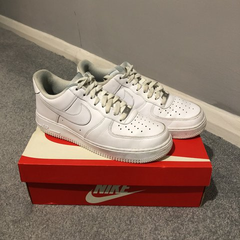 b74fc8a5577b5 ... new zealand nike air force 1 white with custom red sole size uk7. in  depop