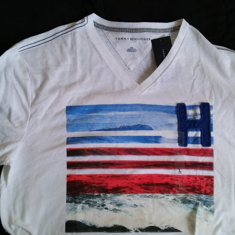 96cb3cc18 @johnrichardstore. last year. Los Angeles, Los Angeles County, United  States. Tommy Hilfiger V Neck T-shirt ...