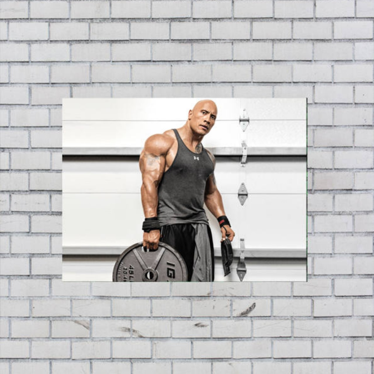 Dywayne Johnson The Rock Gym Motivation A3 Poster