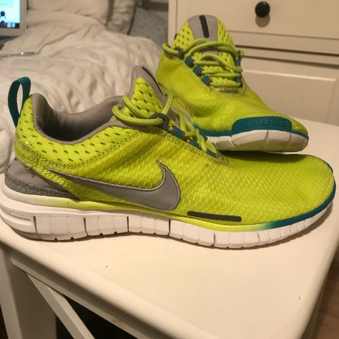 a2575fef97f94 Nike Free Run Lime green yellow. UK Size6. Never worn!! with - Depop