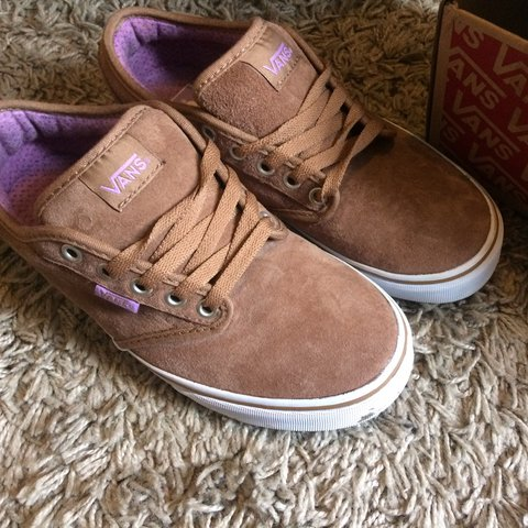 d8ee1021cc8303 SIZE 5 VANS COCONUT COLOUR HARDLY WORN AS TOO BIG FOR ME so - Depop