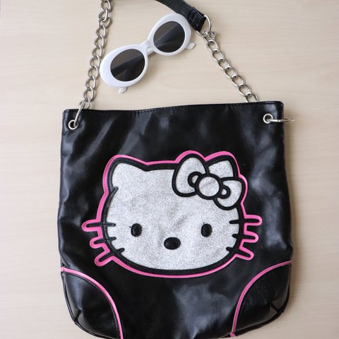 465576b8a0 THIS BAG IS TO DIE FOR. Authentic Sanrio leather Hello Kitty - Depop