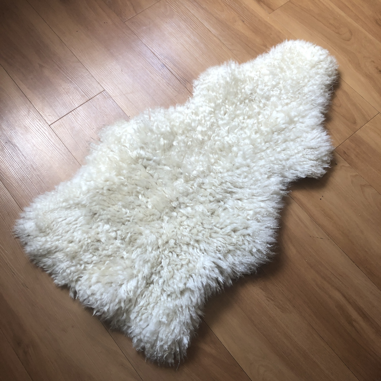 Ikea White Fluffy Rug Used But Still Lots Of Use In Depop