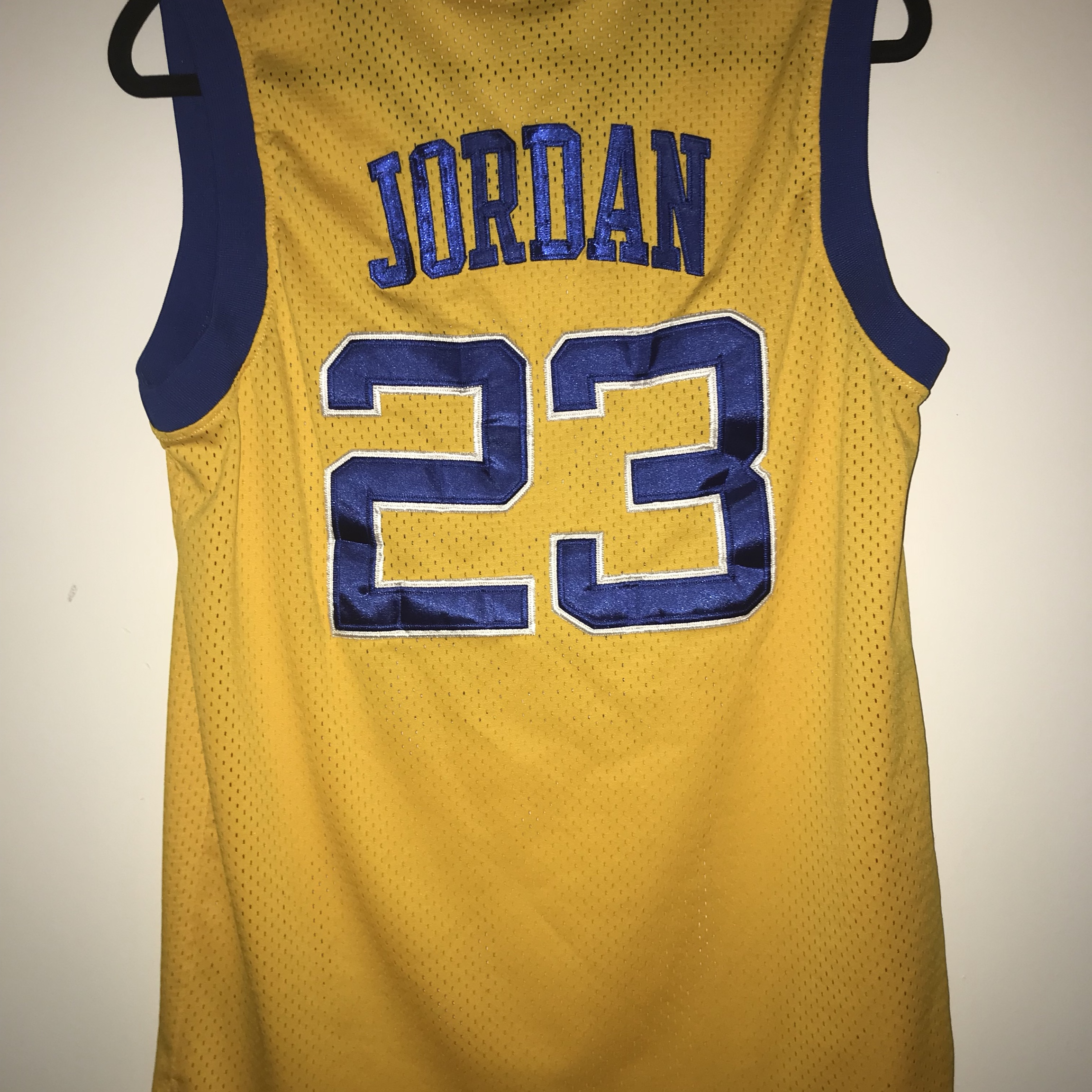 new style 38a5e d31c6 Authentic stitched Michael Jordan Laney high school... - Depop