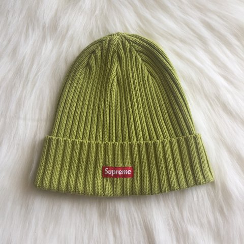 0bed66c0 SUPREME RIBBED BEANIE LIME - Depop