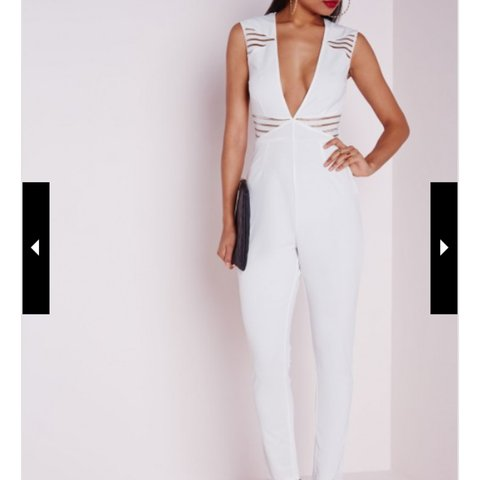5586dafc59c White plunge jumpsuit. Missguided. Top shop. Zara. BRAND NEW - Depop