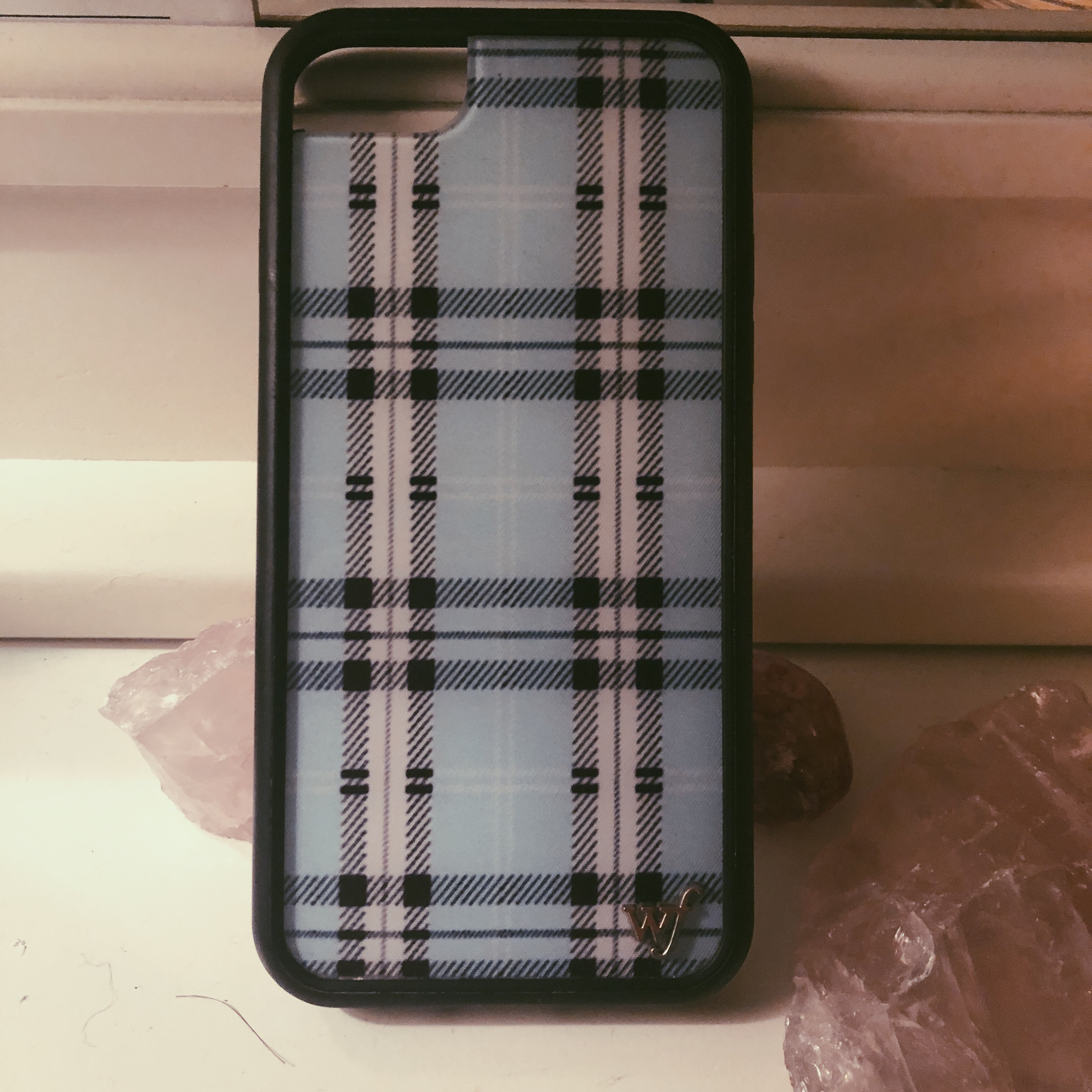 best loved 35a9a c4899 authentic plaid blue wildflower case for iphone 7!!... - Depop