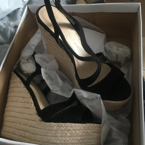 fed3c452fd6 Selling these brand new black fashion nova wedges as I ve 🙈 - Depop