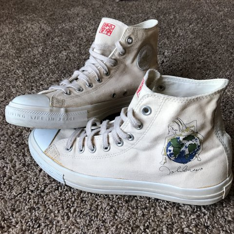 a09407344770 Vintage Converse All Star. High tops. VERY RARE limited 9.5 - Depop