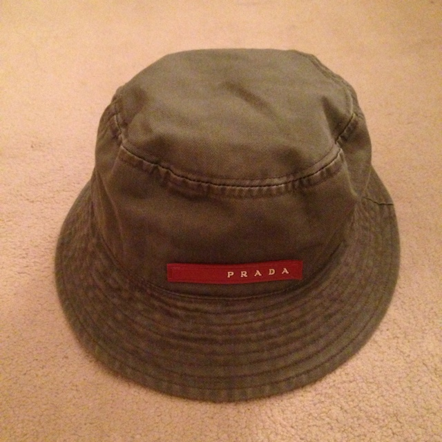 9aad2e38f Vintage Prada Bucket Hat. One Size Fits All. Due to... - Depop