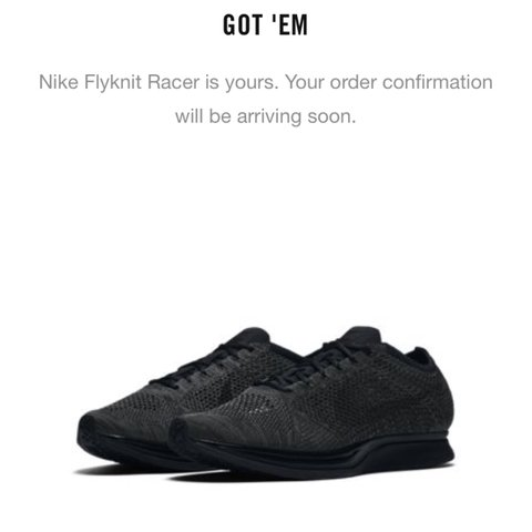 c0a563c2f4a0 NIKE FLYKNIT RACER TRIPLE BLACK MIDNIGHT. UK 8