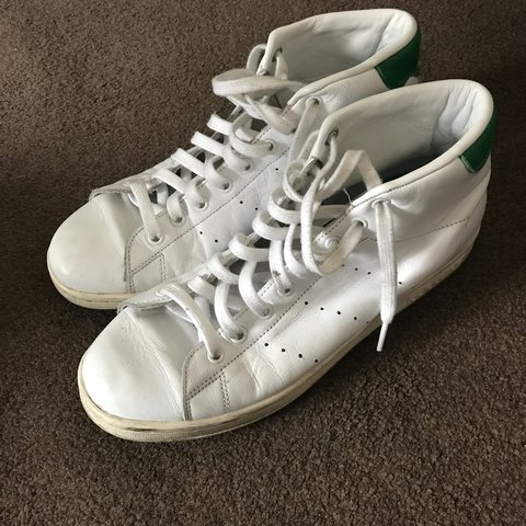 Adidas Stan Smith UK 8.5 Used but still lots of wear left - Depop