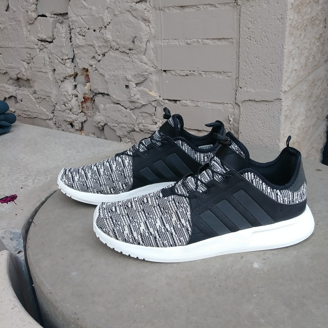 Adidas running shoes with reflective stripes for Depop