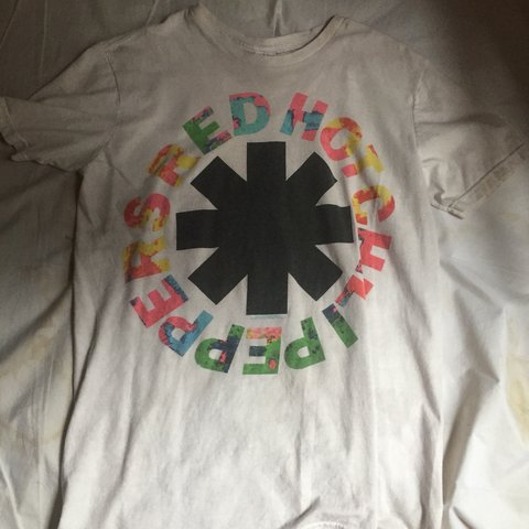 f3d018c8 item: red hot chili peppers band t shirt! im in love with my - Depop