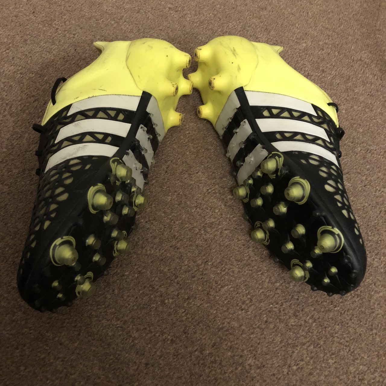 Adidas ACE 15.1 FG   AG football boots in Yellow   - 9.5 but - Depop dc5831c4d