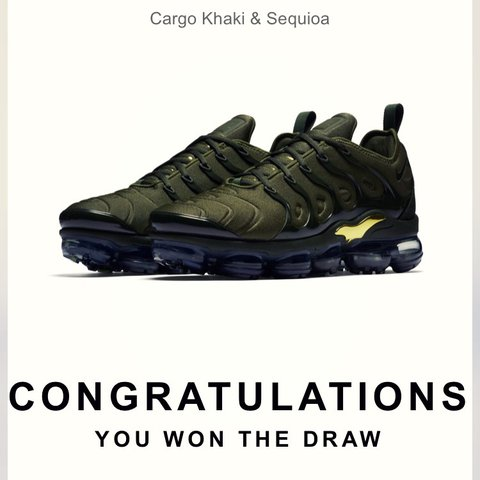 f93c3e5a0e @dansr. last year. Berkshire, UK. Launched 25/01. NIKE AIR VAPORMAX PLUS👟 Cargo  Khaki & Sequioa. BRAND NEW.