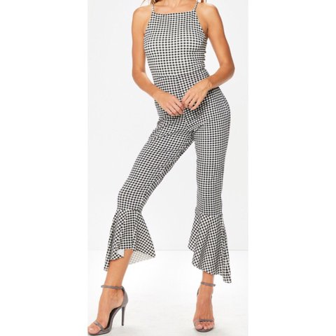 fd1226fb4da Miss Pap gingham jumpsuit with flares