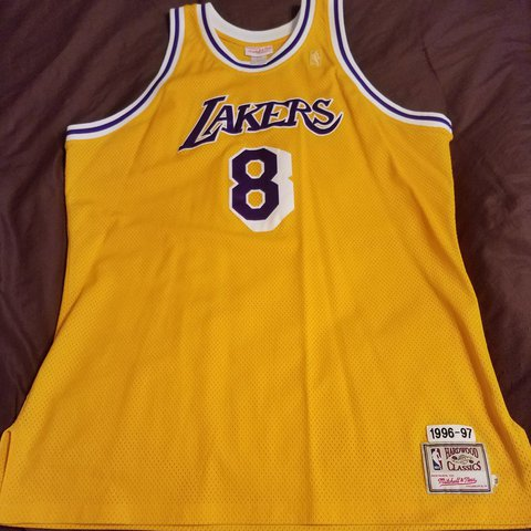 90c9ea0cef4 Mitchell   Ness Kobe Bryant Rookie Year (1996-97) Home is a - Depop