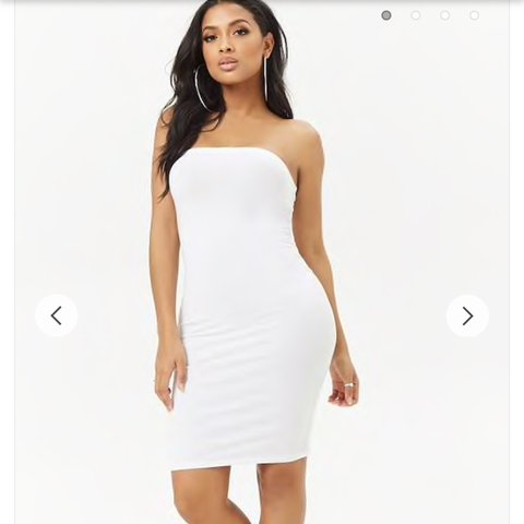 5b5877d33c Forever 21 tube bodycon midi dress in white Brand new with - - Depop