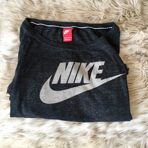 a8a529a39666f NIKE off the shoulder top   sweatshirt   jumper   active in - Depop