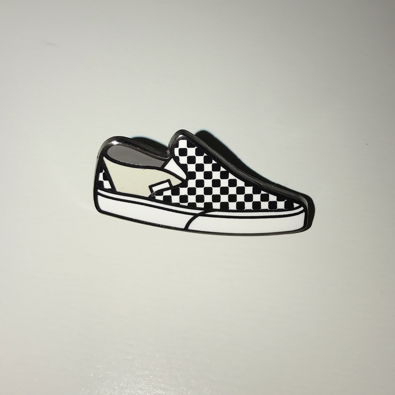 Official Checkerboard Vans Pin Black & White Free Depop