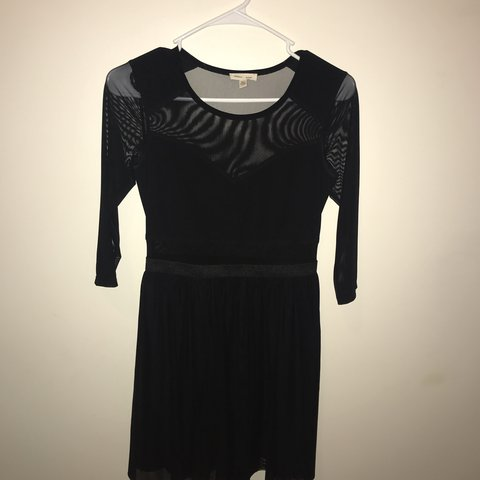 Silence Noise Black Dress With Mesh Sleeves Got This From Depop