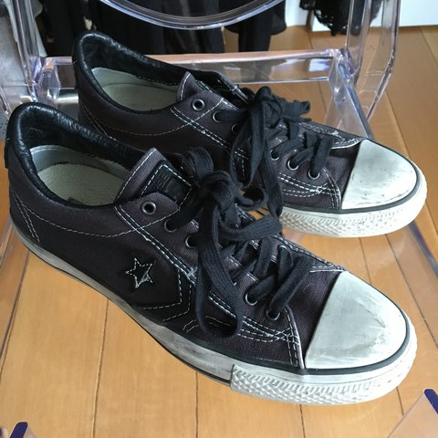 d98b6fbf5ef4 Mens converse x John Varvatos shoes - charcoal gray w  black - Depop
