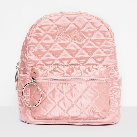 Pink satin silky quilted Barbie X Missguided collab mini is - Depop 5402be8fec77e