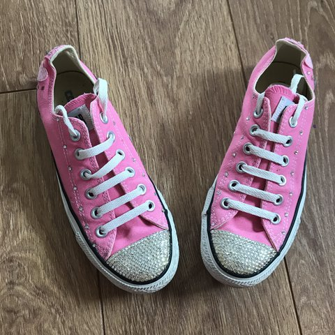 caf70a5f0e6d Converse pink crystal embellished shoes. A couple of at the - Depop
