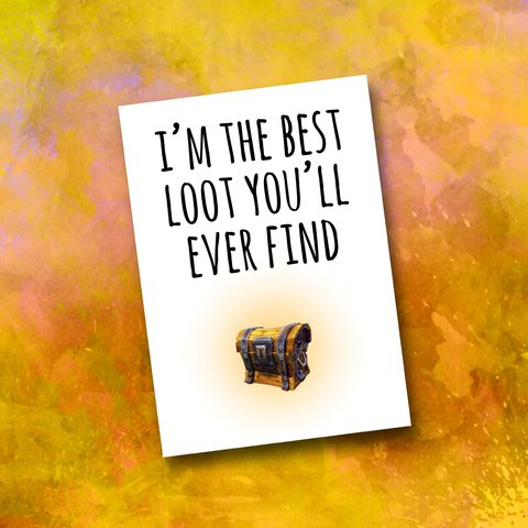 Fortnite Valentine S Day Card Funny Loot Crate Chest Gamer Depop