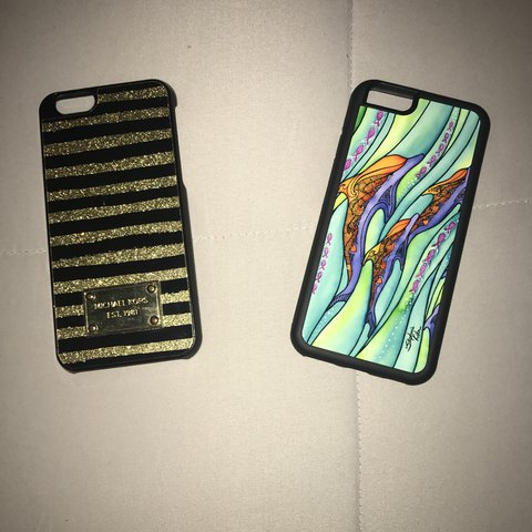 e68eb502f098 Michael Kors and Dolphin Phone cases  12 a piece - Depop