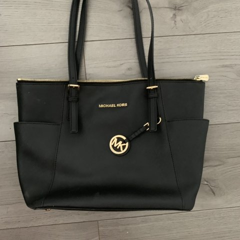 3a91874e03df13 Authentic MK black tote bag purchased from selfridges. wear - Depop