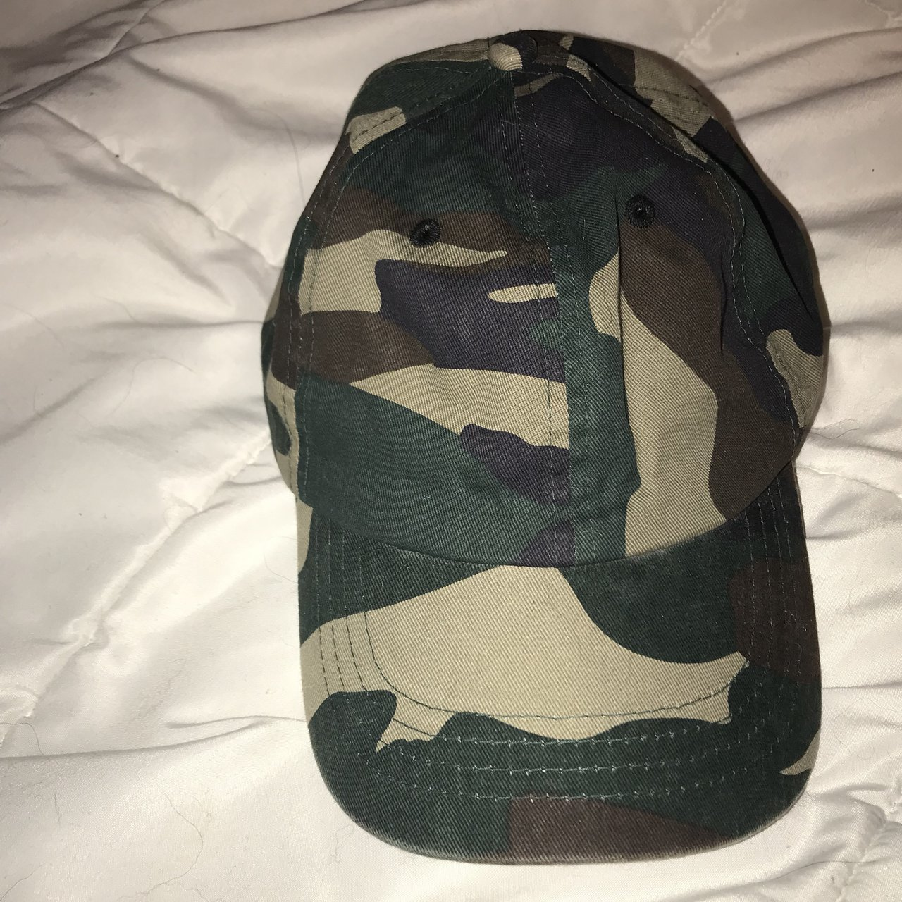 camo baseball dad hat bought from PacSun green brown tan on - Depop 141aa2408e6a