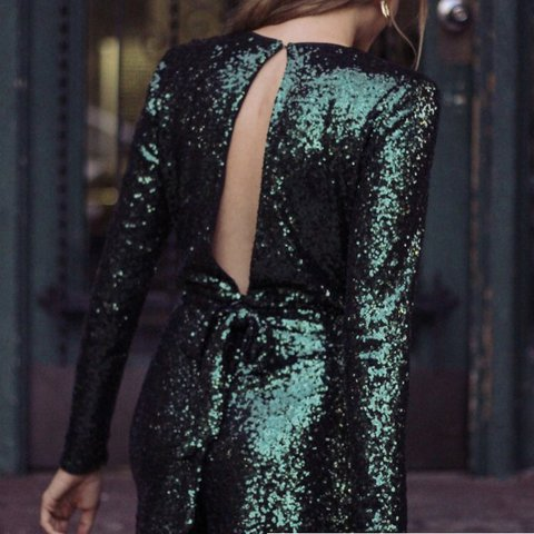 e9d29316330 Ivy green sequin romper