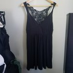 3479f33561 H and M T shirt dress with lace up detail. Size 10. - Depop