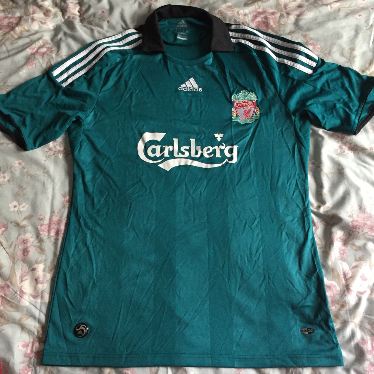 sneakers for cheap c90a5 60152 Liverpool adidas football green shirt top, perfect... - Depop