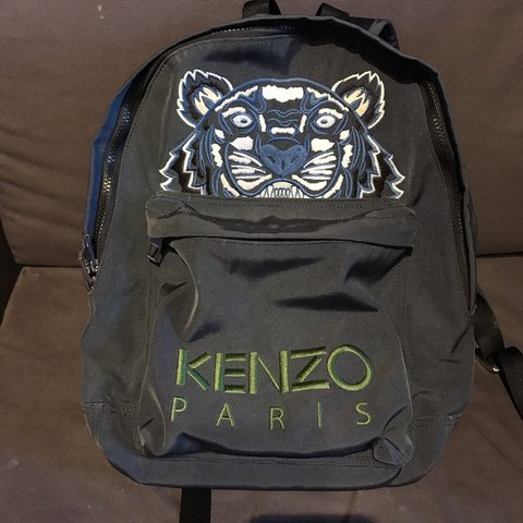 5231f680 Kenzo Tiger Icon Canvas Large Backpack Charcoal Purchased in - Depop